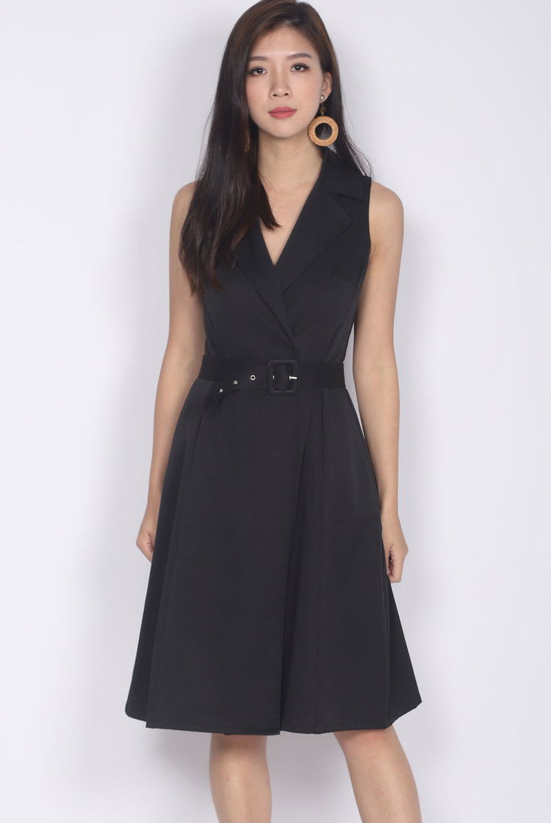 Belin Trench Dress In Black