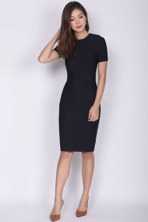 Bellanca Bandage Sleeve Dress In Black