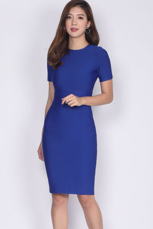 *Restock* Bellanca Bandage Sleeve Dress In Blue