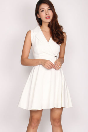 Bellissa Vest Dress In White