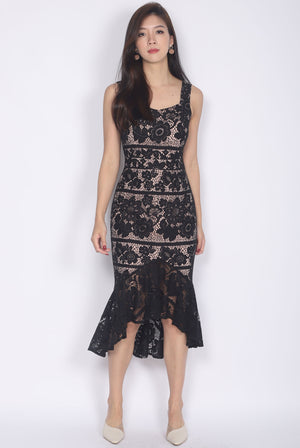 *Premium* Belmira Lace Mermaid Dress In Black