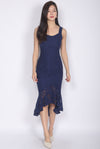 [Exclusive] *Premium* Belmira Lace Mermaid Dress In Navy Blue