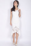 *Premium* TDC Belmira Lace Mermaid Dress In White