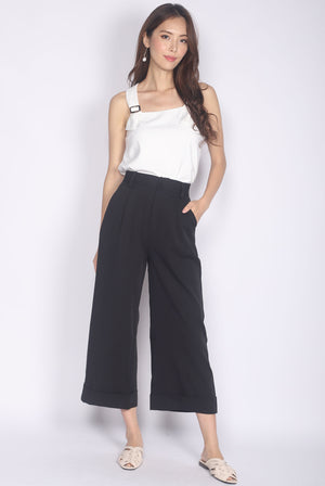 Camberlie Fold Up Flare Pants In Black