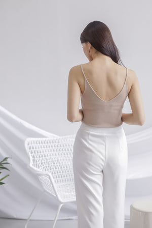 *Restocked* Bennie Ribbed Camisole Top In Nude