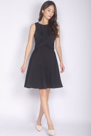 Beretta Twist Front Dress In Black