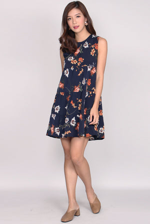 Binnie Floral Tiered Babydoll Dress