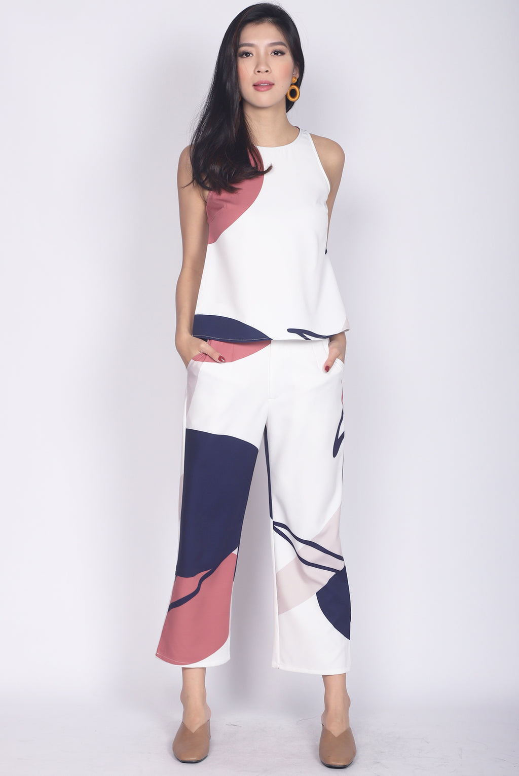 *Restocked* Bonelle Abstract Top In White