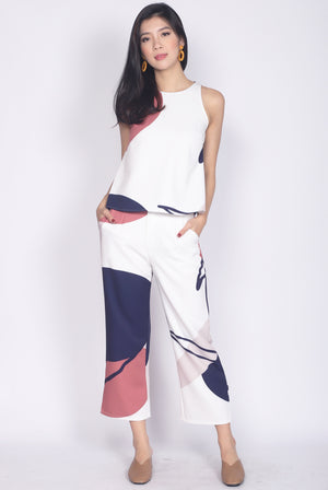 *Restock* Bonelle Abstract Top In White