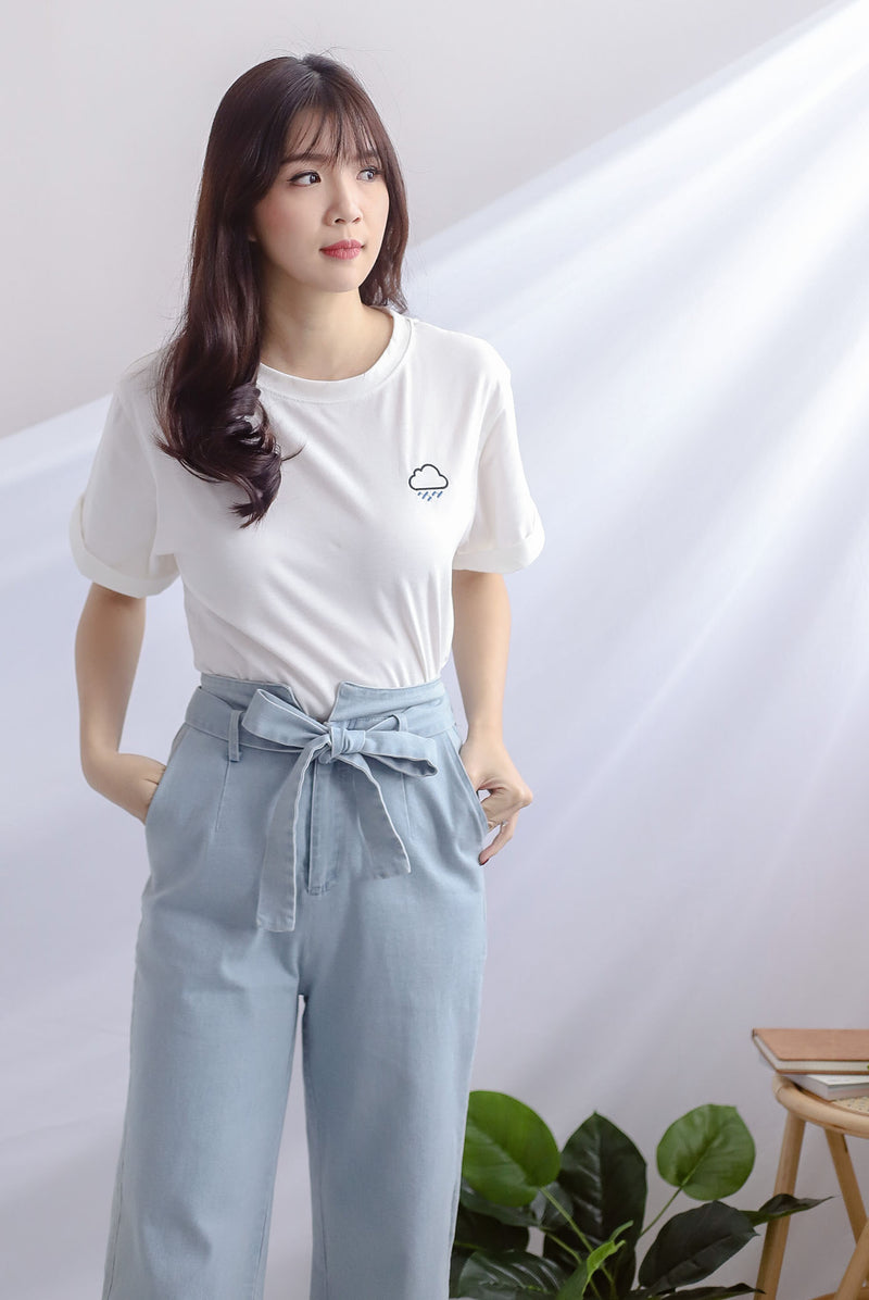 Boyfriend Tee Top In Cloud