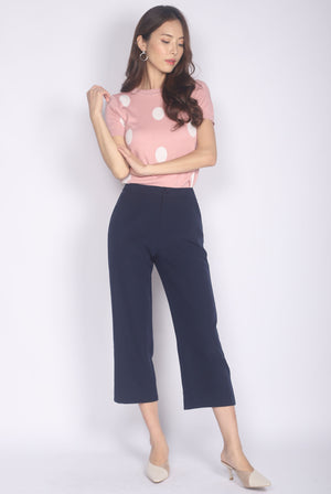 Ginger Culottes In Navy Blue