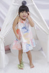 *Kids* Caihong Watercolour Drop Hem Dress