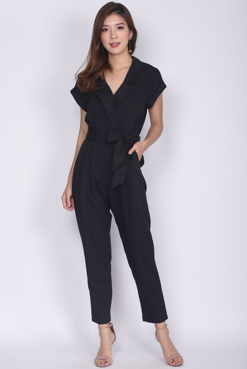 *Restock* Caledonia Shirt Jumpsuit In Black