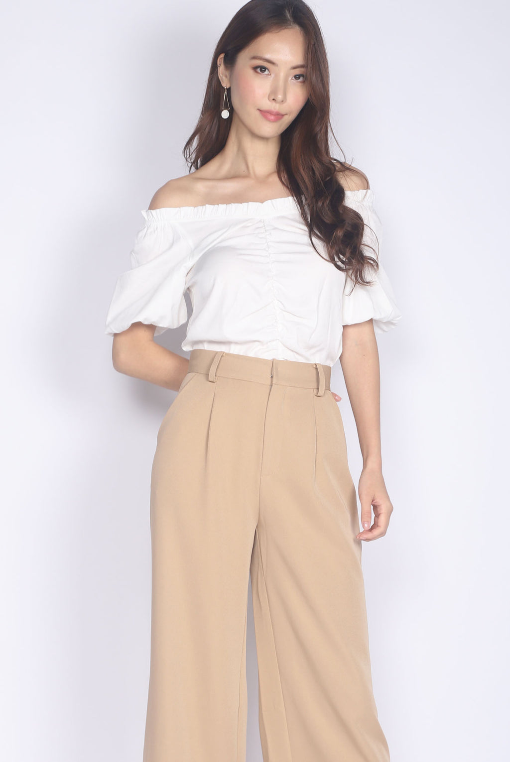 Candela Off Shoulder Top In White