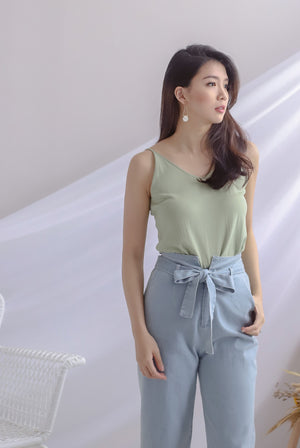 Cambrie Cami Top In Apple Green