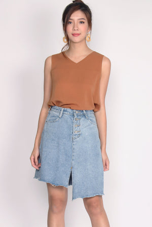 *Restock* Hanna Ladder Denim Skirt