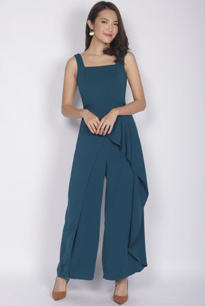 *Premium* Carrie Slit Layer Jumpsuit In Forest Green