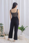 *Premium* Charli Lace Jumpsuit In Black