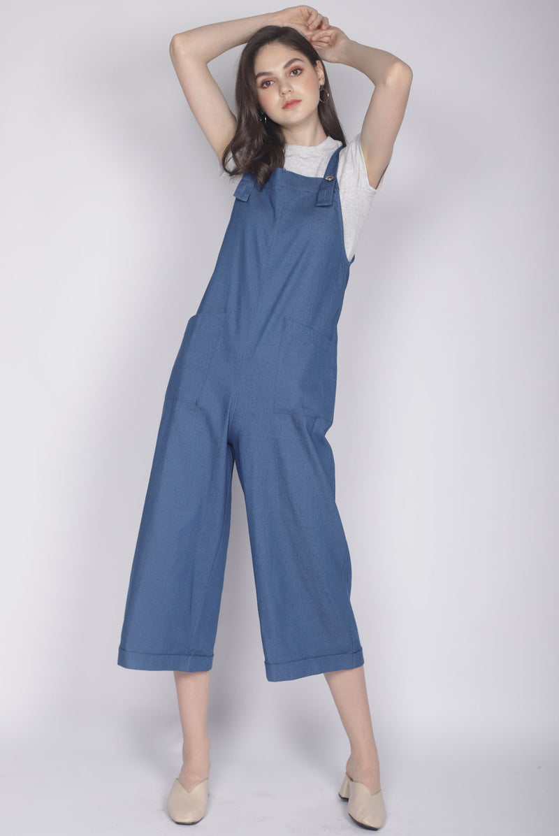 Chelly Denim Jumpsuit In Dark Blue