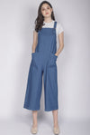 *Restocked* Chelly Denim Jumpsuit In Dark Blue