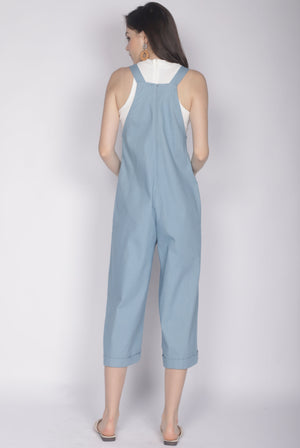 Chelly Denim Jumpsuit In Light Blue