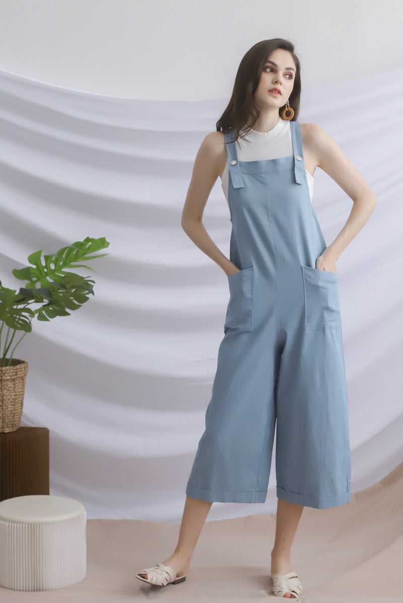 *Restocked* Chelly Denim Jumpsuit In Light Blue