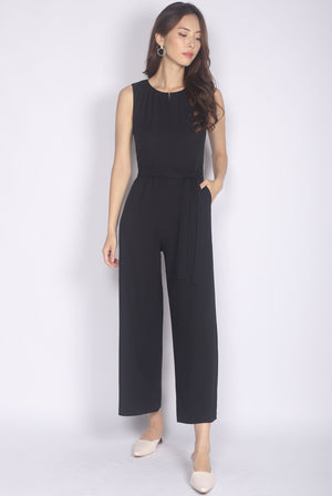Cherith Keyhole Jumpsuit In Black