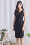 *Premium* Claude Trench Work Dress In Black