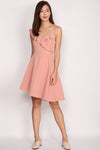 Collyn Ruffle Asymm Dress In Pink
