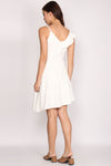 Collyn Ruffle Asymm Dress In White