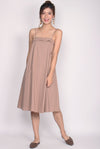Cydine Linen Tent Dress In Sand Pink
