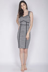 *Premium* Dalisay Plaids Pencil Dress In Black