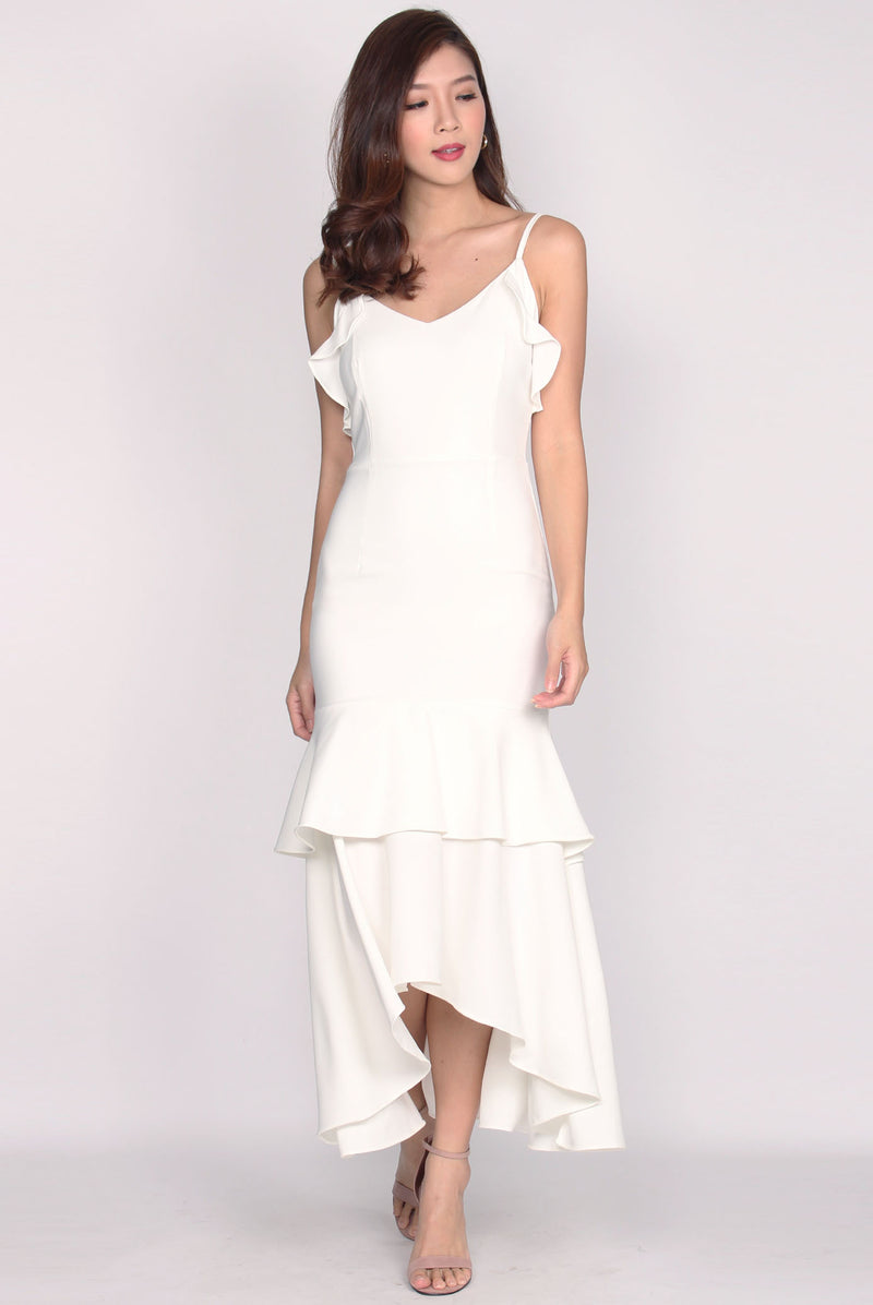 Damris Backdrop Maxi Dress In White