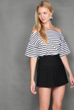 Miriam Neat Pleated Skorts In Black