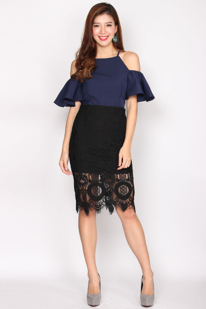 Maxima Lace Pencil Skirt