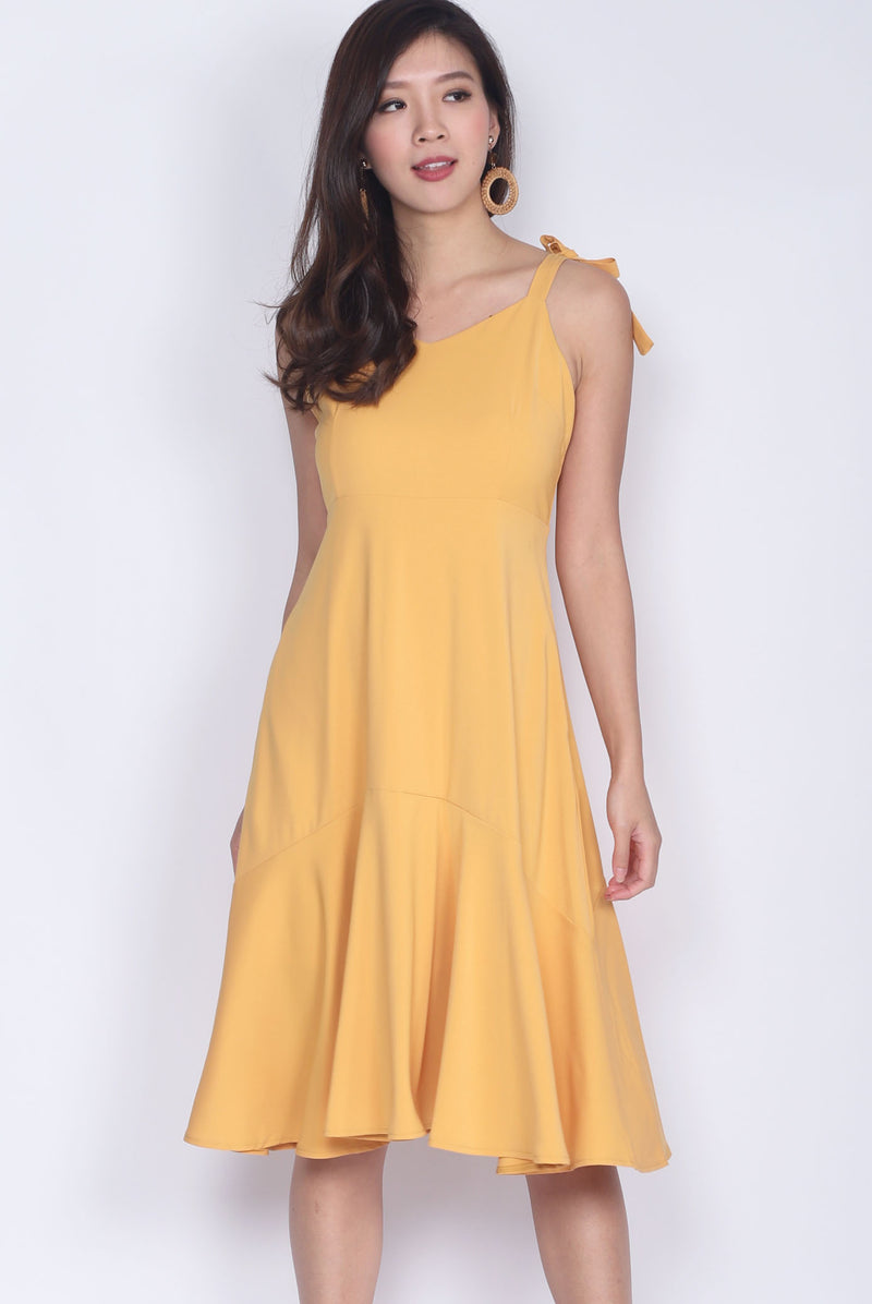 Darley Tie Shoulder Dress In Marigold