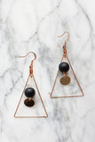 *BACKORDER* Classy Black Ball Drop Earrings
