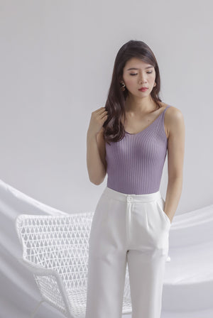 *Restocked* Ebru Knit Cami Top In Periwinkle