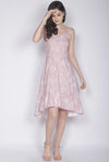 Eduwiges Sketch Floral Spag Dress In Pink