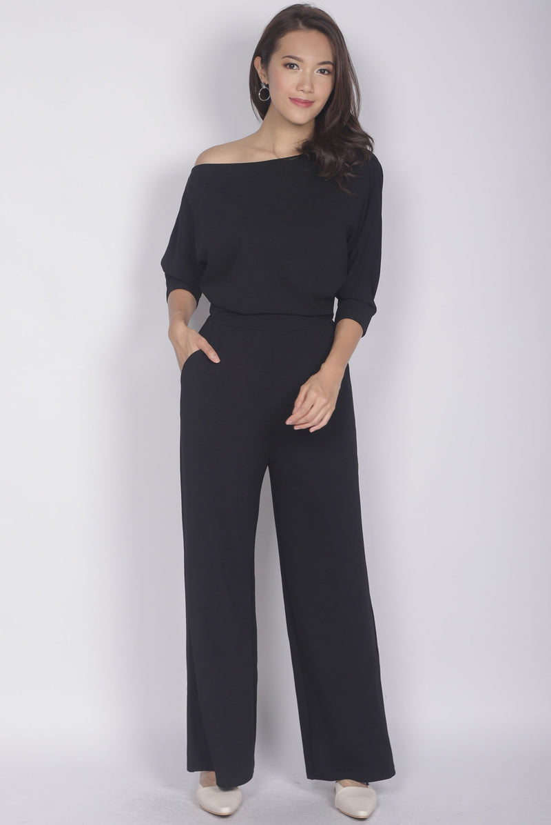 *Backorder II* Elka Multi Ways Jumpsuit In Black
