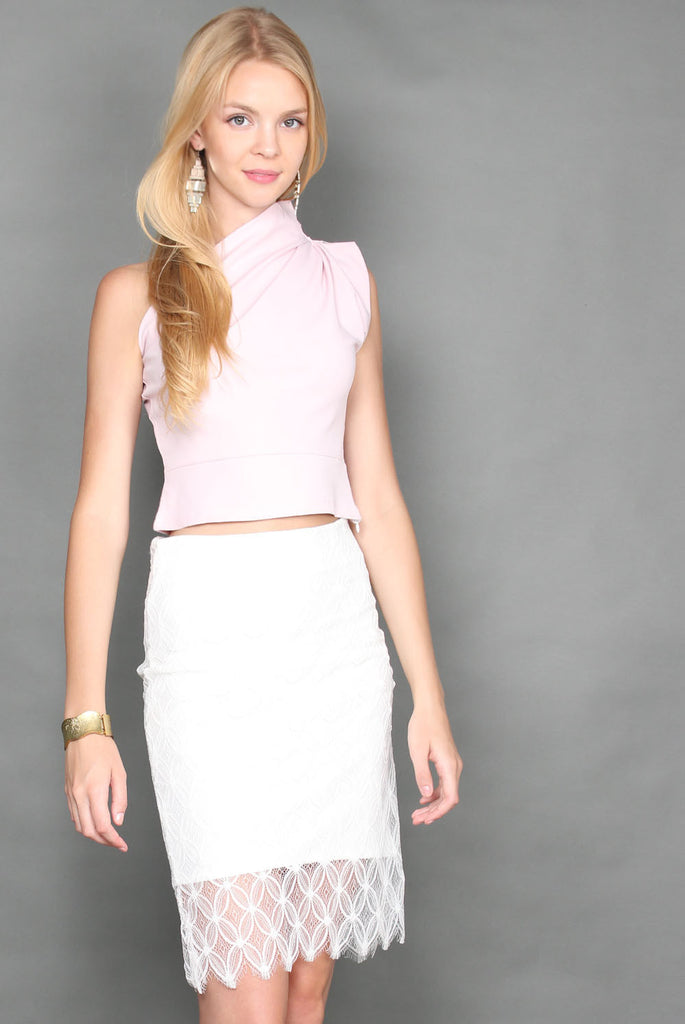 Emerson Origami Toga Top In Pink