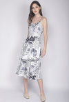 Emmarie Fern Spag Dress In White