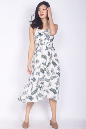 Esiree Leafy Sundress In White