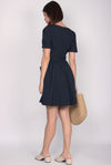 Eveleen Kimono Pockets Dress In Midnight Blue