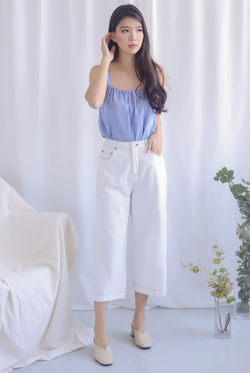 Everetti Denim Culottes In White