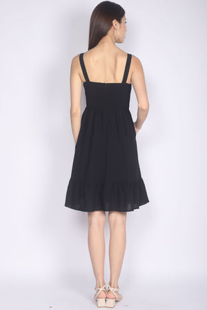 Evermore Bustier Dress In Black