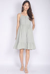 Evermore Bustier Dress In Sage