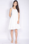 Evermore Bustier Dress In White