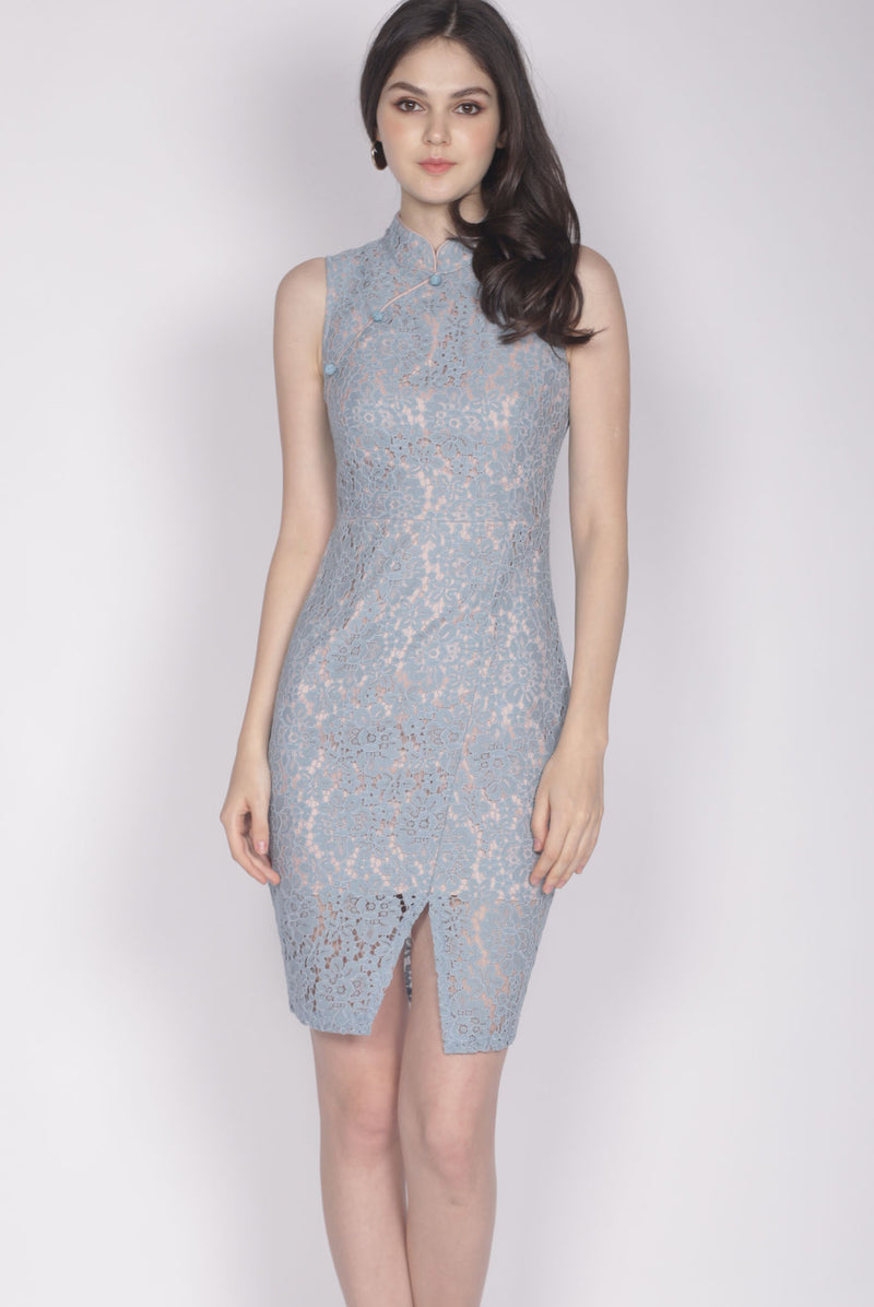 Fairlie Cheongsam Dress In Skyblue
