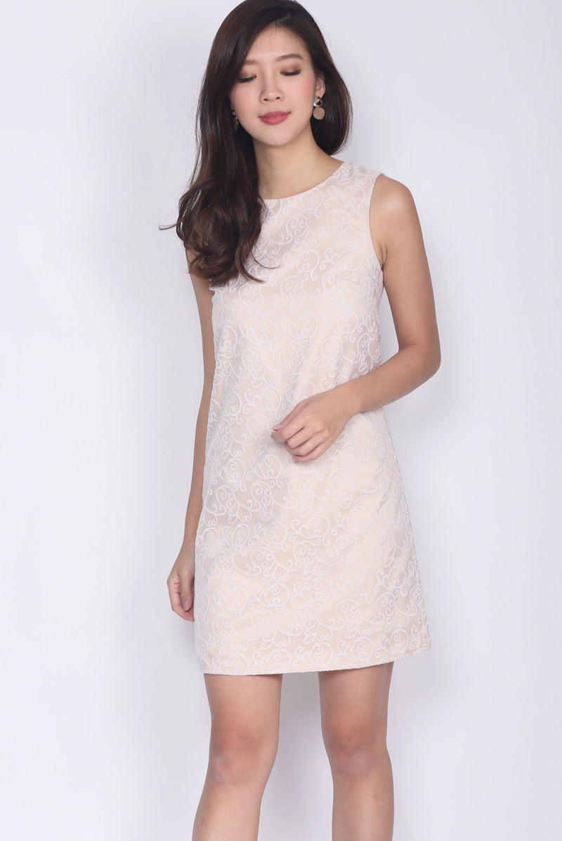Federica Royal Shift Dress In Cream